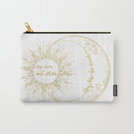 Moon of My Life. My Sun and Stars Gold Carry-All Pouch