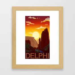 Sixty-Four: Delphi Travel Poster Framed Art Print