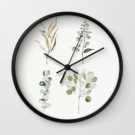 Eucalyptus Branches Wall Clock