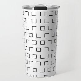 Code Breaker - Abstract, black and white, minimalist artwork Travel Mug