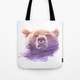 BEAR SUPERIMPOSED WATERCOLOR Tote Bag