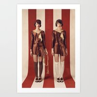 twins Art Prints featuring Twins by Rebecca Handler