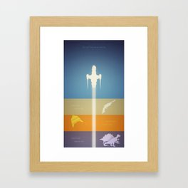 Objects in Space Framed Art Print