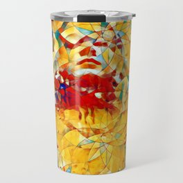 6759s-KMA The Woman in the Stained Glass Sensual Feminine Energy Emerging Travel Mug