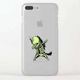 dab skeleton unicorn Clear iPhone Case