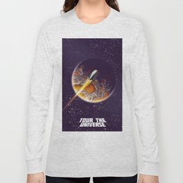 Tour the Universe - Sci fi poster Long Sleeve T-shirt
