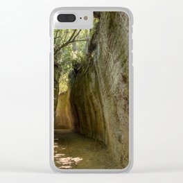 Excavated Etruscan Roads Clear iPhone Case