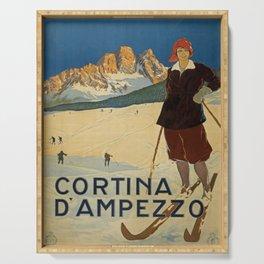 Vintage Travel Poster Serving Tray