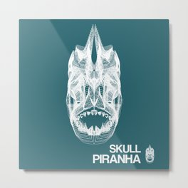 Skull Collection - Piranha - Metal Print