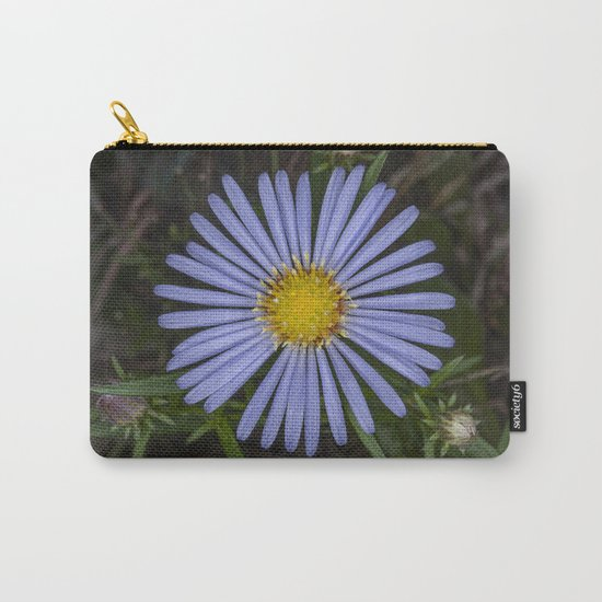 Blue Wildflower Carry-All Pouch