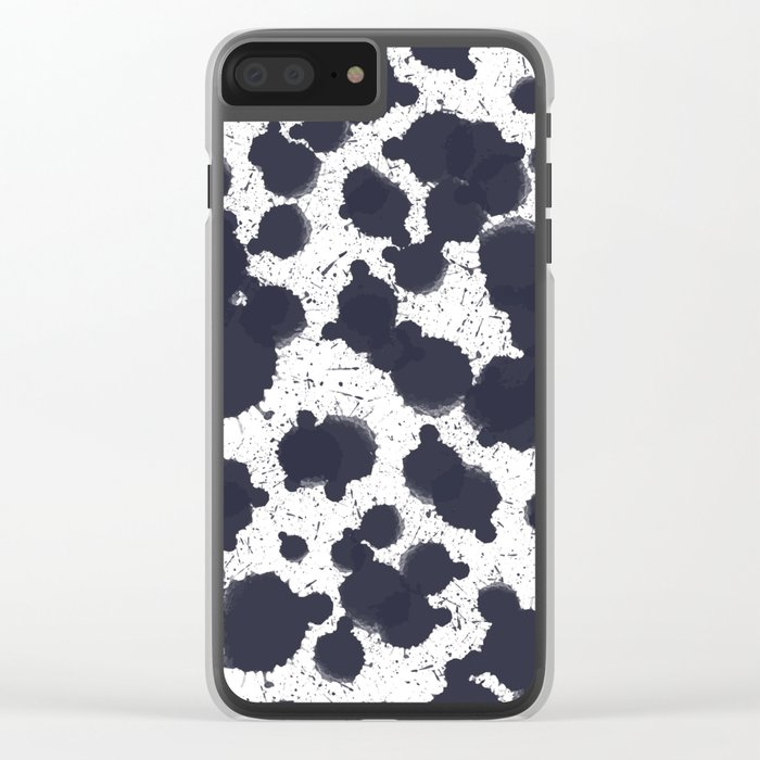 Watercolor dots Clear iPhone Case