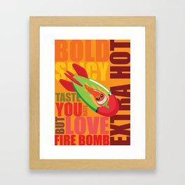 Fire Bomb Framed Art Print