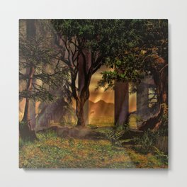 Fantasy Forest 3 Metal Print