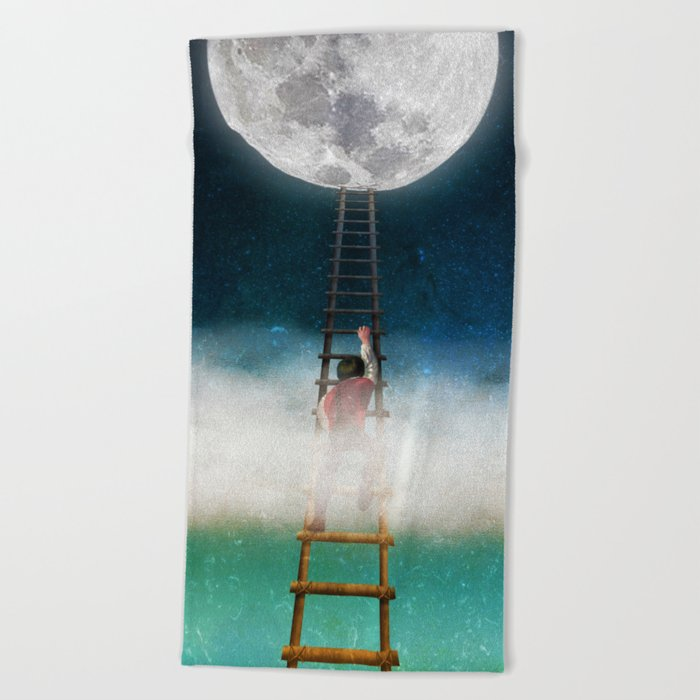 Reach for the Moon Beach Towel