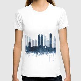 Philadelphia City Skyline Blue Watercolor by zouzounioart T-shirt