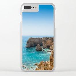 Beach at Lagoa, Algarve, Portugal II Clear iPhone Case