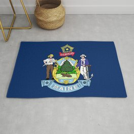 Maine State Flag Rug