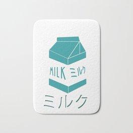 Aesthetic Milk Carton design Gift Vaporwave 80s Otaku Style Bath Mat