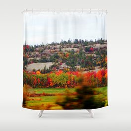 Trees and the Rock Shower Curtain
