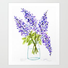 Lilacs in Jar Art Print