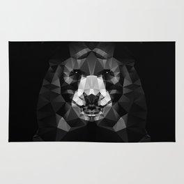 Bear - Black Geo Animal Series Rug