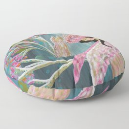 Pink Moon Floor Pillow