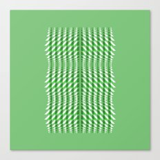 Green Triangles Canvas Print