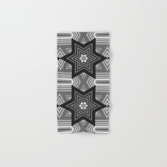 Black and white abstract pattern. Graphics. Hand & Bath Towel
