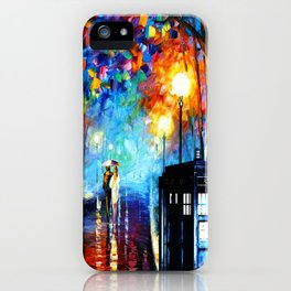 STARRY NIGHT TARDIS iPhone Case