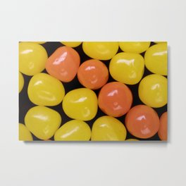 Bright Orange and Yellow Sour Ball Jelly Beans Metal Print
