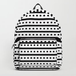 Geometric Pattern 163 (dots lines) Backpack