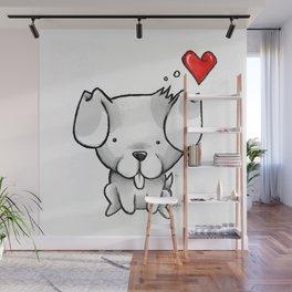 Cute Kawaii Puppy Dog Wall Mural