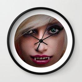 Beautiful Young Seductive Vampire Wall Clock