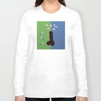 penis Long Sleeve T-shirts featuring Felt Penis: Seeing Stars by BRENT PRUITT