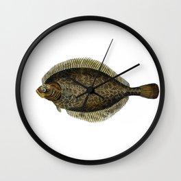 European Flounder Wall Clock