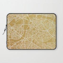 Gold London map Laptop Sleeve
