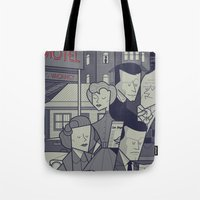 psycho Tote Bags featuring Psycho by Ale Giorgini