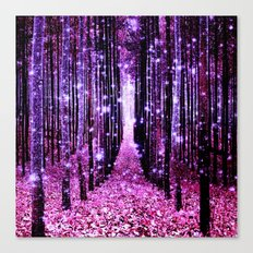 Magical Forest Pink & Purple Canvas Print