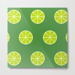 Lime Light Metal Print
