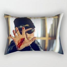 """The Gash - """"Back off Man""""  Rectangular Pillow"""