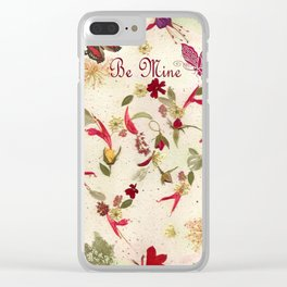 Valentines two hearts Clear iPhone Case