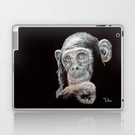 a Jane Goodall quote - black Laptop & iPad Skin