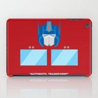 optimus prime iPad Cases featuring Optimus Prime by IlPizza