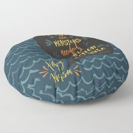 Everybody--even monsters--needed a little attention once in a while. Percy Jackson Floor Pillow