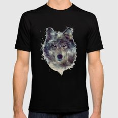 Wolf // Persevere  SMALL Mens Fitted Tee Black