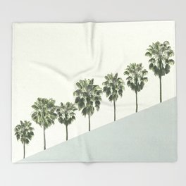 Palm Trees 4 Throw Blanket