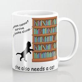 Cats and Books Coffee Mug