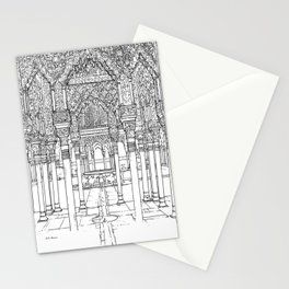 Alhambra palace, Granada, Andalucia - Spain-Black & White Stationery Cards