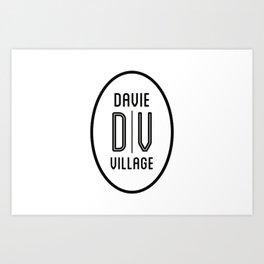 DAVIE VILLAGE Art Print