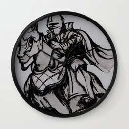 Jousting Wall Clock